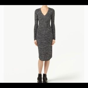 Wilfred free sz xs lisiere dress in heather grey
